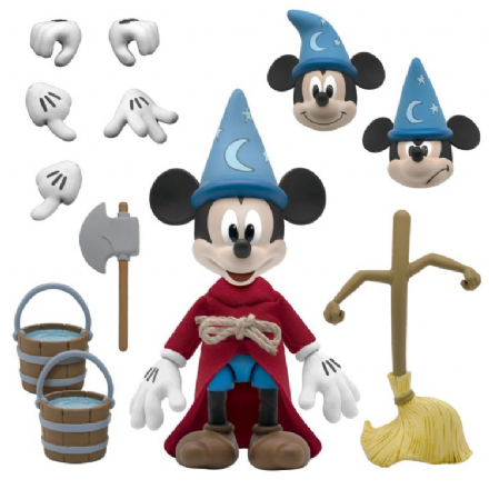 Super7 Disney Ultimates The Sorcerer's Apprentice Mickey Mouse Action Figure